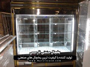 یخچال مکعبی ویترینی گوشت و پروتئین